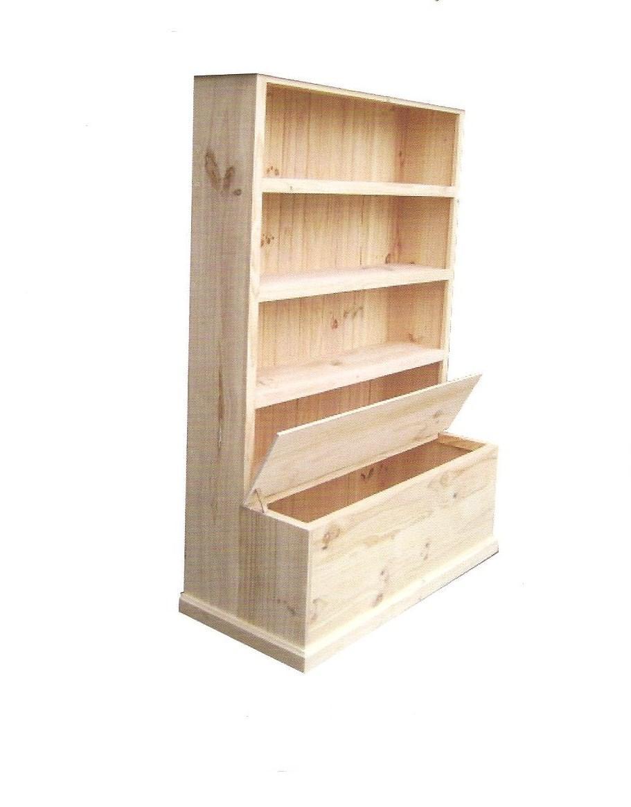 Bookcase With Toybox 6 X 4 Raw C51