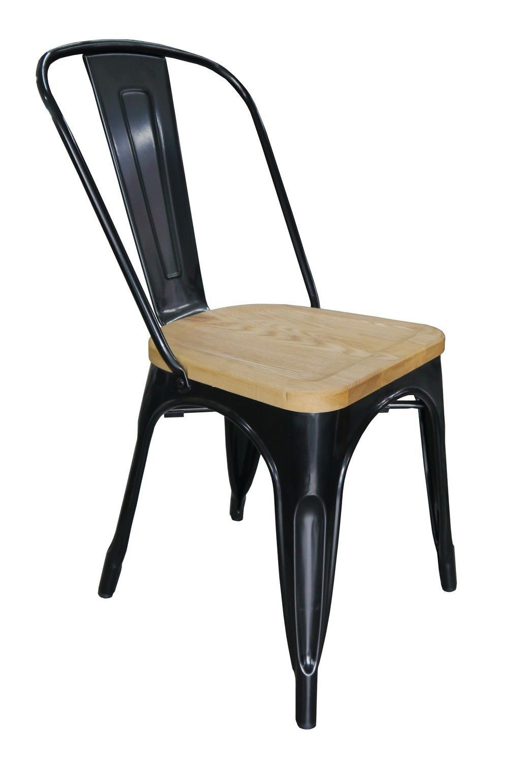 Replica tolix chair with ash timber seat larkos for Tolix stuhl replik