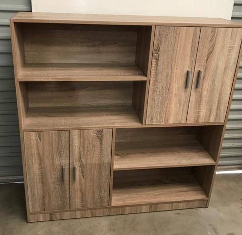 Grey Wash Melamine Storage Cabinet Larkos Furniture Store